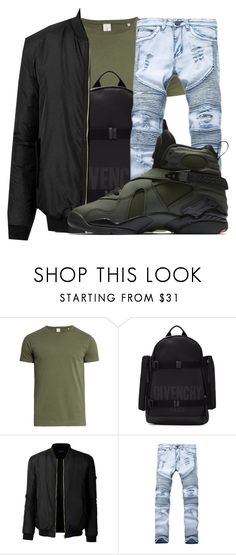 """""""Untitled #1045"""" by princessjay003 ❤ liked on Polyvore featuring Sørensen, Givenchy, LE3NO, NIKE, men's fashion and menswear"""