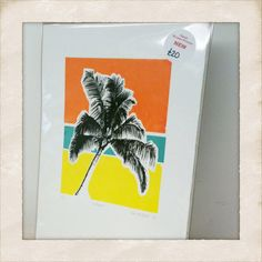 NEW : 'Calypso' palm tree original screenprint by claireclose, £20.00 - love this!!!