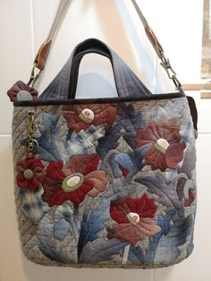 Patchwork Patterns, Patchwork Bags, Patchwork Designs, Quilted Bag, Crazy Patchwork, Japanese Bag, Bag Pattern Free, Creation Couture, Linen Bag