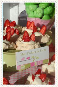 Mini pavlova de fresas