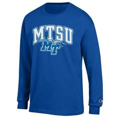 Be passionate,be True Blue, be yourself in this campus long sleeve t-shirt. Long sleeve t-shirt combines comfort with spirited style to create a new favorite look. #MTSU #blueraiders #textbookbrokers