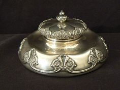 Antique sterling silver Tiffany Makers inkwell