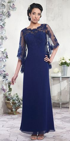 Popular Tulle & Chiffon Bateau Neckline Ankle-length Sheath/Column Mother Of The Bride Dresses With Lace Appliques