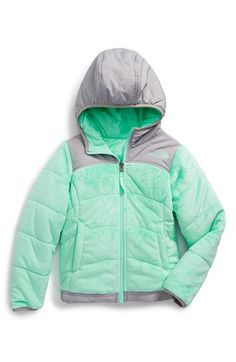 The North Face 'Perseus' Water Repellent Heatseeker™ Insulated Hooded Reversible Jacket (Big Girls) available at #Nordstrom