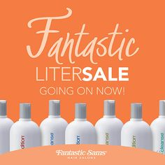Clear your bathroom cabinets. It's time to stock up on your favorite salon hair care products during our annual Liter sale!#LiterSale #Hair #Products