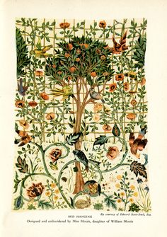 Bed Hanging, designed and embroidered by May Morris, daughter of William Morris