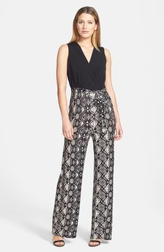 Donna Ricco Mock Two-Piece Jersey Jumpsuit at Nordstrom.com.