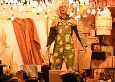 In a standout performance of the night, 'Bridesmaids' and 'SNL' star Kristen Wiig donned a wig to dance along to Sia's 'Chandelier'. Sia Chandelier, Modern Chandelier, Sia And Maddie, Record Of The Year, Dance Moves, Show Photos, Arts And Entertainment, Good Music, At Least