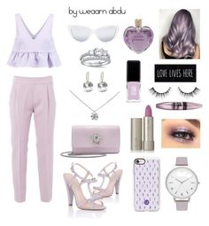 """""""Lilac. Lavender. Lust."""" by weaam-abdu ❤ liked on Polyvore featuring Paper Dolls, JINsoon, Casetify, Elizabeth and James, Topshop, Versace, Giambattista Valli, Ilia, Tiffany & Co. and Maybelline"""
