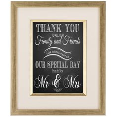 Wedding Thank you sign for your Wedding Guest 4x6 by TheArtyApples, £4.00