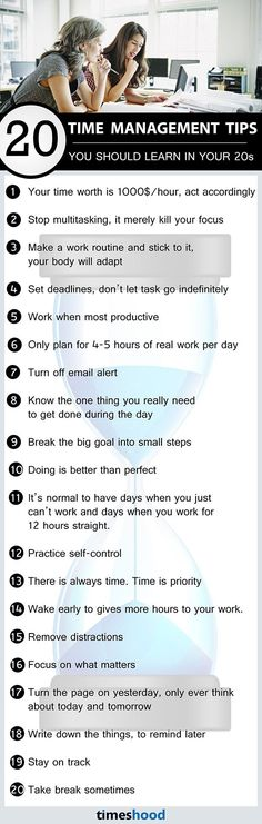 20 Time Management Tips You Should Learn In Your 20s