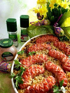 Paella, Sausage, Food And Drink, Meat, Chicken, Healthy, Ethnic Recipes, Easter Activities, Sausages