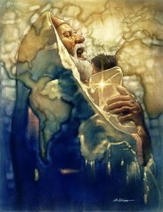 Jesus Christ, God's gift to mankind Ron DiCianni - Simeon's Moment Jewish Art, Catholic Art, Catholic Saints, Religious Art, Religious Paintings, Jesus In The Temple, Images Of Mary, Religion, Prophetic Art