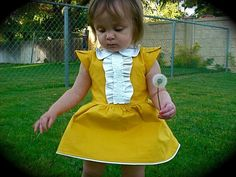 DIY Clothes Refashion: DIY The Yellow Dress