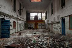 Arlington School, Bessemer, AL- We found this neat old gymnasium, which featured a tin ceiling and skylights.