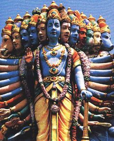 The 12 avatars of Lord Vishnu  seriously love the colour and character of this piece ! think its awesome !