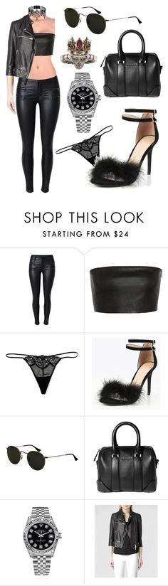 """Sin título #3395"" by greciavalentino ❤ liked on Polyvore featuring Vionnet, Wacoal, Ray-Ban, Givenchy, Rolex, AllSaints and Alexander McQueen"