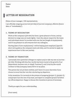 13 Best resignation letter sample images | Resignation ...
