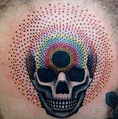 Skull...color...dots...artist: Tomás Garcia...