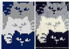 22 ideas crochet cat blanket cross stitch for 2019 Fair Isle Knitting Patterns, Knitting Charts, Knitting Stitches, Baby Knitting, Free Knitting, Vintage Knitting, Chat Crochet, Crochet Chart, Crochet Patterns