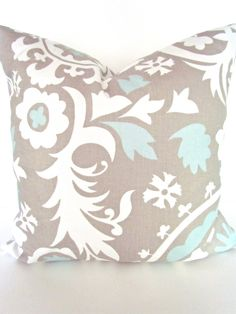 THROW PILLOW  Tan 18x18  Decorative Throw by SayItWithPillows, $15.95