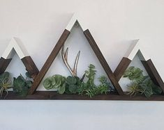 Rustic Candle Holders, Rustic Candles, Tealight Candle Holders, Tea Light Candles, Mountain Shelf, Mountain Decor, Rustic Wooden Shelves, Rustic Wall Decor, Nursery Shelves