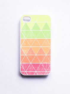 iphone 4 Case Geometric 1 in Neon by onyourcasestore on Etsy, $16.99