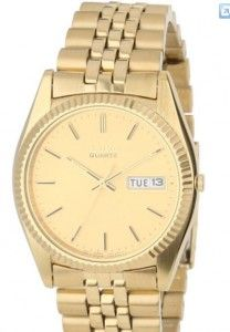 71d3382462c Seiko Men s SGF206 Dress Gold-Tone Watch