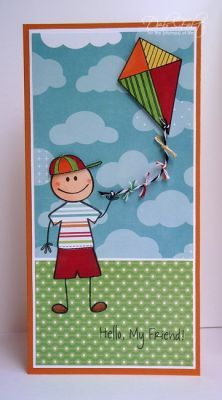 kids2love and kites2fly by The Stamps of Life.  Deb Felts rocks both stamp sets with this card!