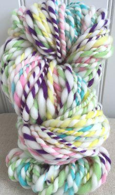 Handspun Yarn  PIXY STIX  knitting supplies by TerraBellaSpun