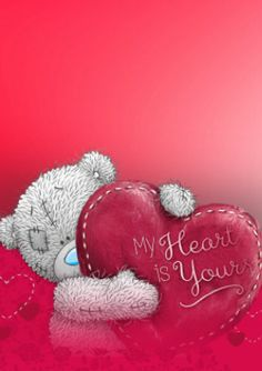 Tatty Teddy Bear Tatty Teddy, Teddy Bear Quotes, Watercolor Card, Teddy Bear Pictures, Blue Nose Friends, Love Bear, Cute Teddy Bears, Bear Toy, Cute Images