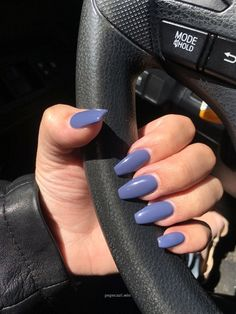 In seek out some nail designs and some ideas for your nails? Listed here is our list of must-try coffin acrylic nails for modern women. Simple Acrylic Nails, Best Acrylic Nails, Summer Acrylic Nails, Acrylic Nail Designs, Simple Nails, Navy Acrylic Nails, Summer Nails, Purple Nail Designs, Almond Acrylic Nails
