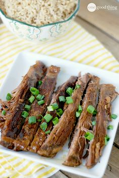 Slow Cooker Skirt Steak - A Family Favorite - One Good Thing by Jillee