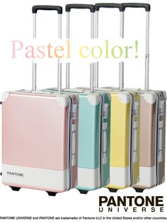 PANTONE UNIVERSE TRUNK   Pastel color !  By TRIO Corporation