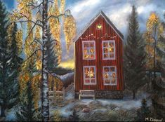 Contemporary Landscape Paintings Inspired by Nature Art My Point Of View, Winter Art, Contemporary Landscape, Landscape Paintings, Oil On Canvas, Scandinavian, Adventure, House Styles, Nature