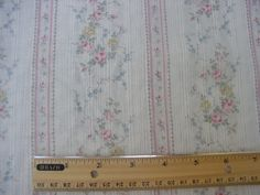 Yuwa Heirloom French Fashion Dolls Pink Roses PINK Stripe Cotton Dimity Batiste  #Yuwa