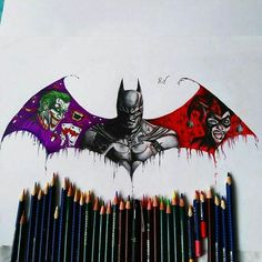 Batman, Joker, and Harley Quinn Der Joker, Joker Und Harley Quinn, Batman Tattoo, Hulk Tattoo, Batman Kunst, Nananana Batman, Batman Poster, Univers Dc, Joker Batman