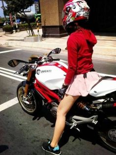 Girls and motorcycles...