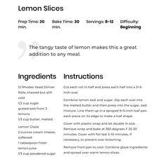 Rhodes Rolls, Lemon Slice, Baking, Bakken, Backen, Sweets, Pastries, Roast