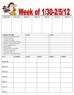 Free Organizer Printables (Feb 2012)