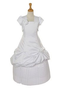 Flower Girl Dresses - Girls Dress Style 1126- Spaghetti Strap Pickup and Pleated Satin Dress