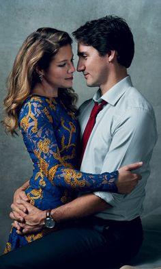 A photo of Canadian Prime Minister Justin Trudeau and his wife Sophie Gregoire Trudeau featured in the January issue of Vogue. Norman Jean Roy for VOGUE Hottest Politicians, Sophie Gregoire Trudeau, Trudeau Canada, Pm Trudeau, Norman Jean Roy, Magazine Vogue, Vogue Photo, Vintage Fashion Photography, Raining Men