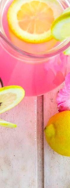 Jadranka & Beautiful world Lemonade Mix Recipe, Pink Love, Pink Yellow, Yellow Cottage, Fruit Preserves, Light Pink Rose, Everything Pink, Pink Lemonade, Refreshing Drinks