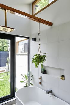 An Old Worker's Cottage Is Reborn Into an Eco-Friendly Home and Learning Center #greenhome #hometour #australia #ecofriendly #bathroom