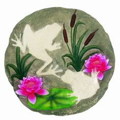 Spoontiques Frog Glow Stepping Stone by Spoontiques, Inc. $14.21. Resin & Calcium Carbonate. Stepping Stone/Wall Plaque. Indoor/Outdoor. High quality indoor or outdoor hand sculpted and hand painted decorative resin Wall Plaque or Stepping Stones can be hung on your wall or simply add a welcoming touch to your home, yard or office.