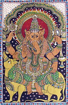 Lord Ganesha - Kalamkari painting