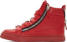 Giuseppe Zanotti Red Strapped London Birel Sneakers