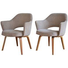 Pair of Eero Saarinen Executive Armchairs for Knoll | From a unique collection of antique and modern armchairs at http://www.1stdibs.com/furniture/seating/armchairs/