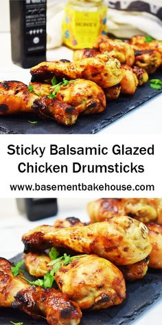 Sticky Balsamic Glazed Chicken Drumsticks recipe! Low Syn on Slimming World. By Basement Bakehouse