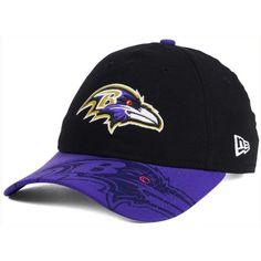 New Era Women's Baltimore Ravens Sideline Ls 9TWENTY Cap ($25) ❤ liked on Polyvore featuring accessories, hats, bills hats, baltimore ravens cap, nfl caps, new era hats and logo cap